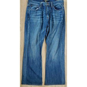 Lucky Brand Mens 455 Relaxed Boot Blue Jeans 30